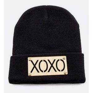 Unisex Black XOXO Beanie